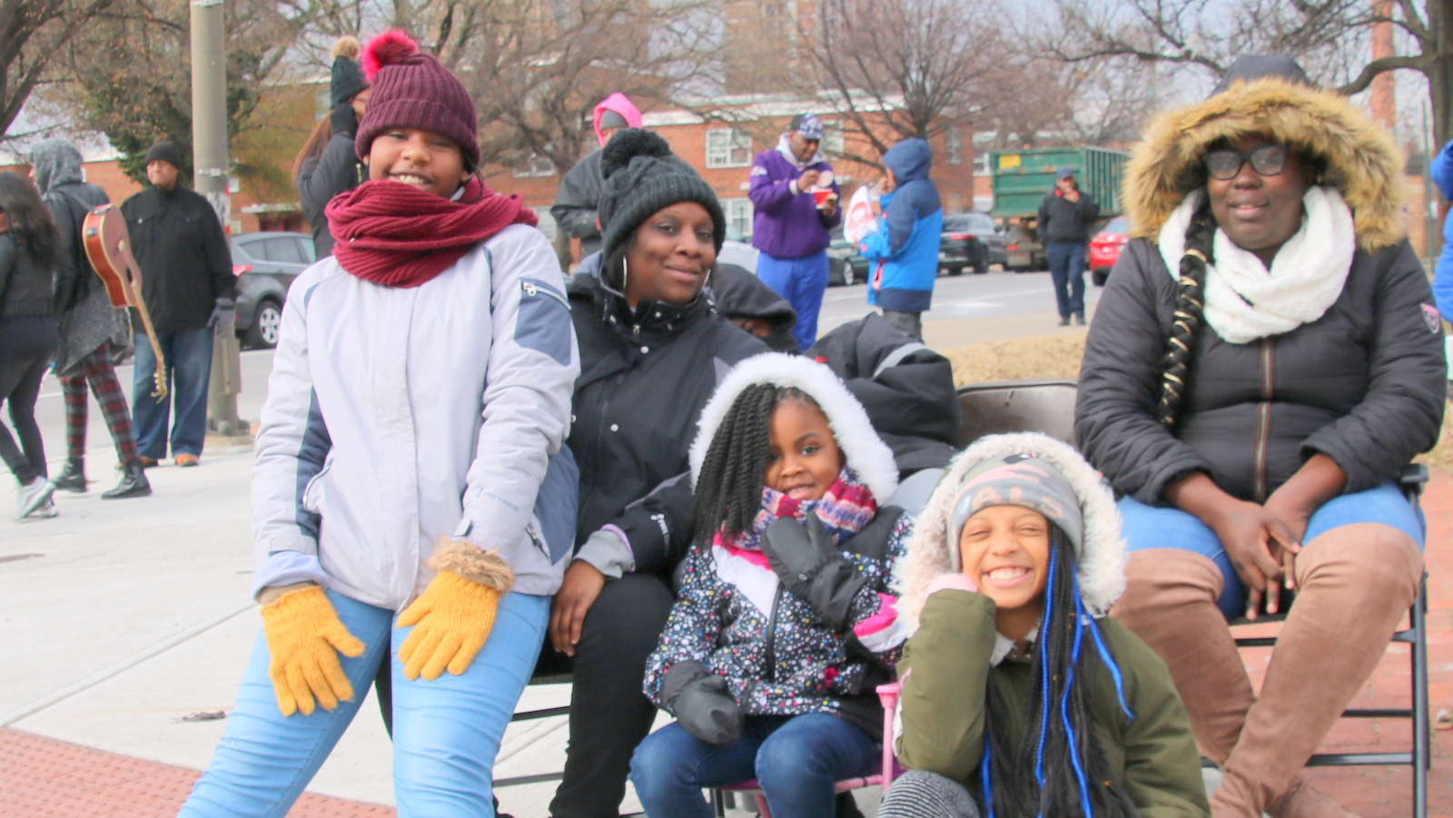 This group was bundled up against the cold.