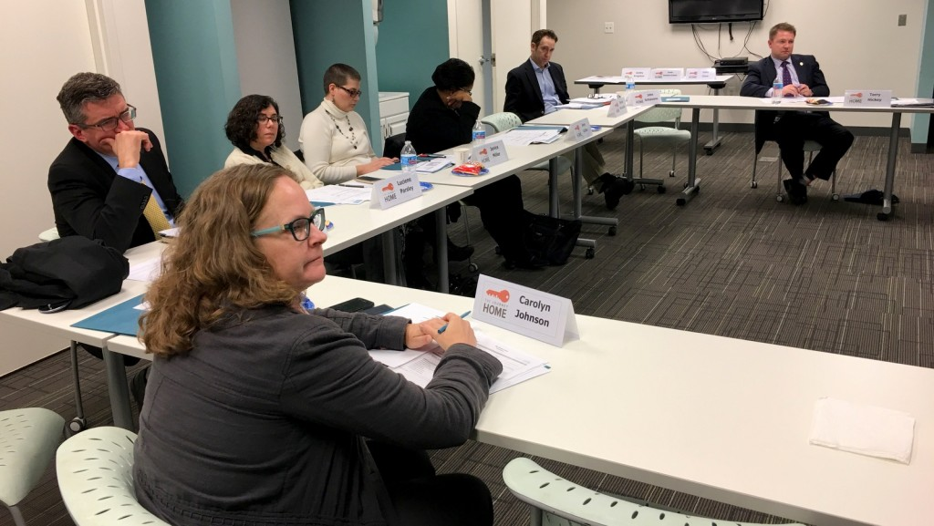 Members of the Continuum of Care Board at their meeting today. (Fern Shen)