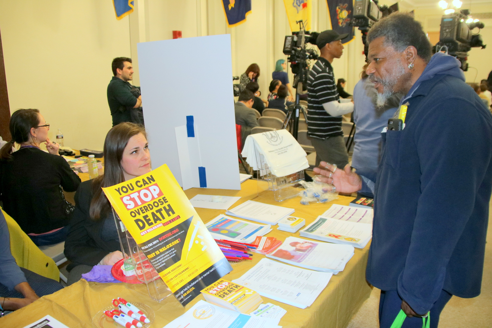 Anthony Williams, of Housing Our Neighbors, at Taxpayers' Night. (Fern Shen)