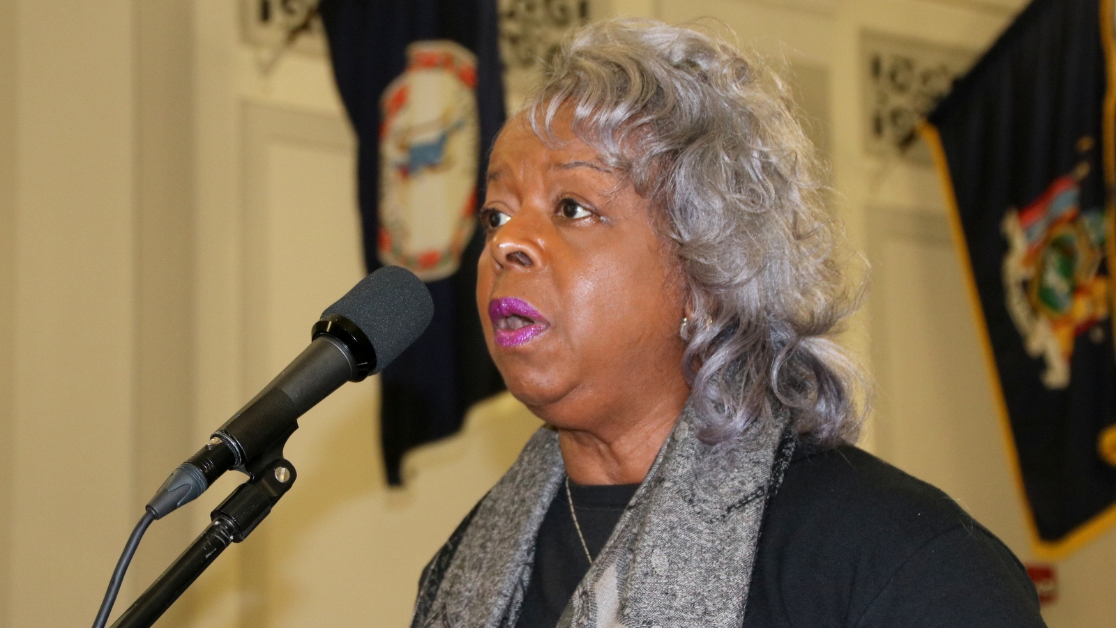 Charlene Bradley said the Brighton community on Northwest Baltimore is being neglected. (Fern Shen)