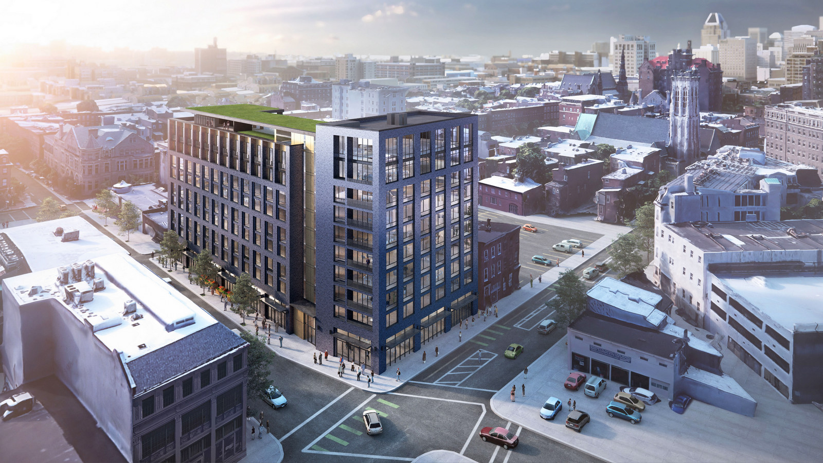 10-story building proposed on the site where Eddie's of Mt. Vernon. (Ziger/Snead)