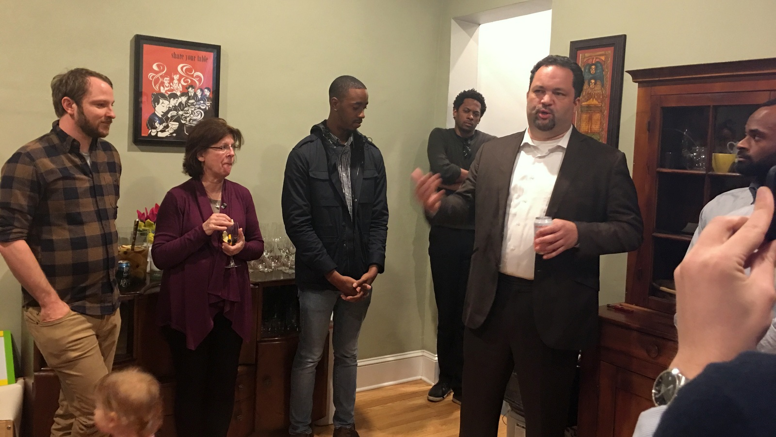 Ben Jealous at a campaign event in Baltimore in April. (Fern Shen)