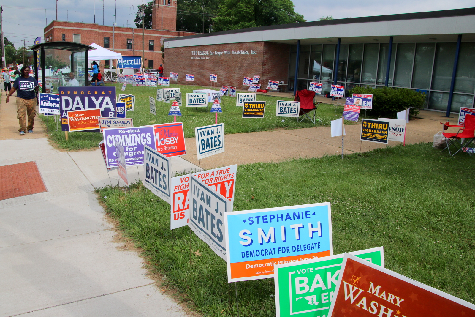 Early voting turnout across Maryland was up this year over four years ago. (Fern Shen)
