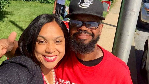 Marilyn Mosby and her husband, Delegate Nick Mosby, who retained his 40th District seat, posted this selfie yesterday on Instagram.