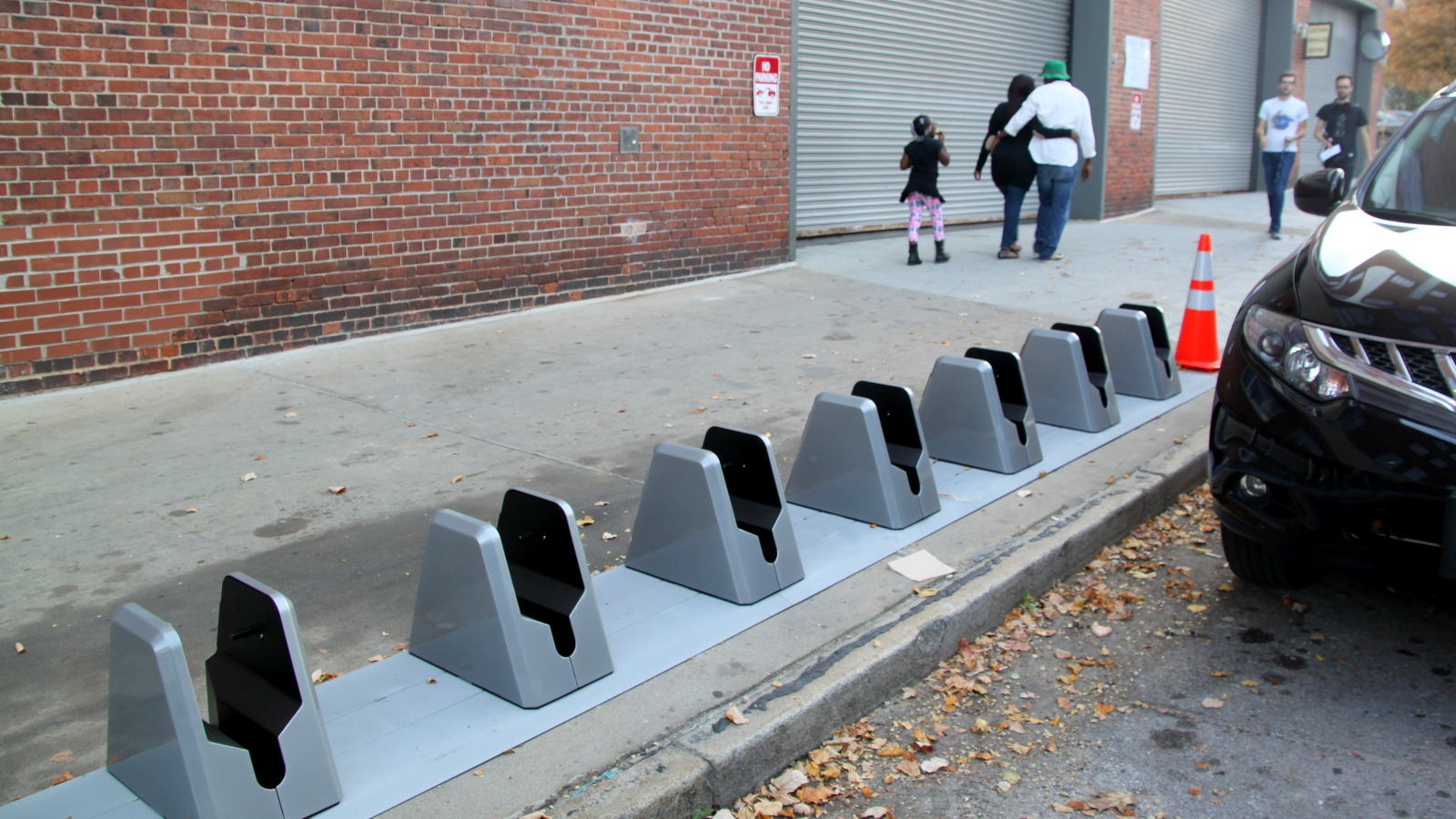 The Mt. Vernon Bikeshare kiosks. (Fern Shen)