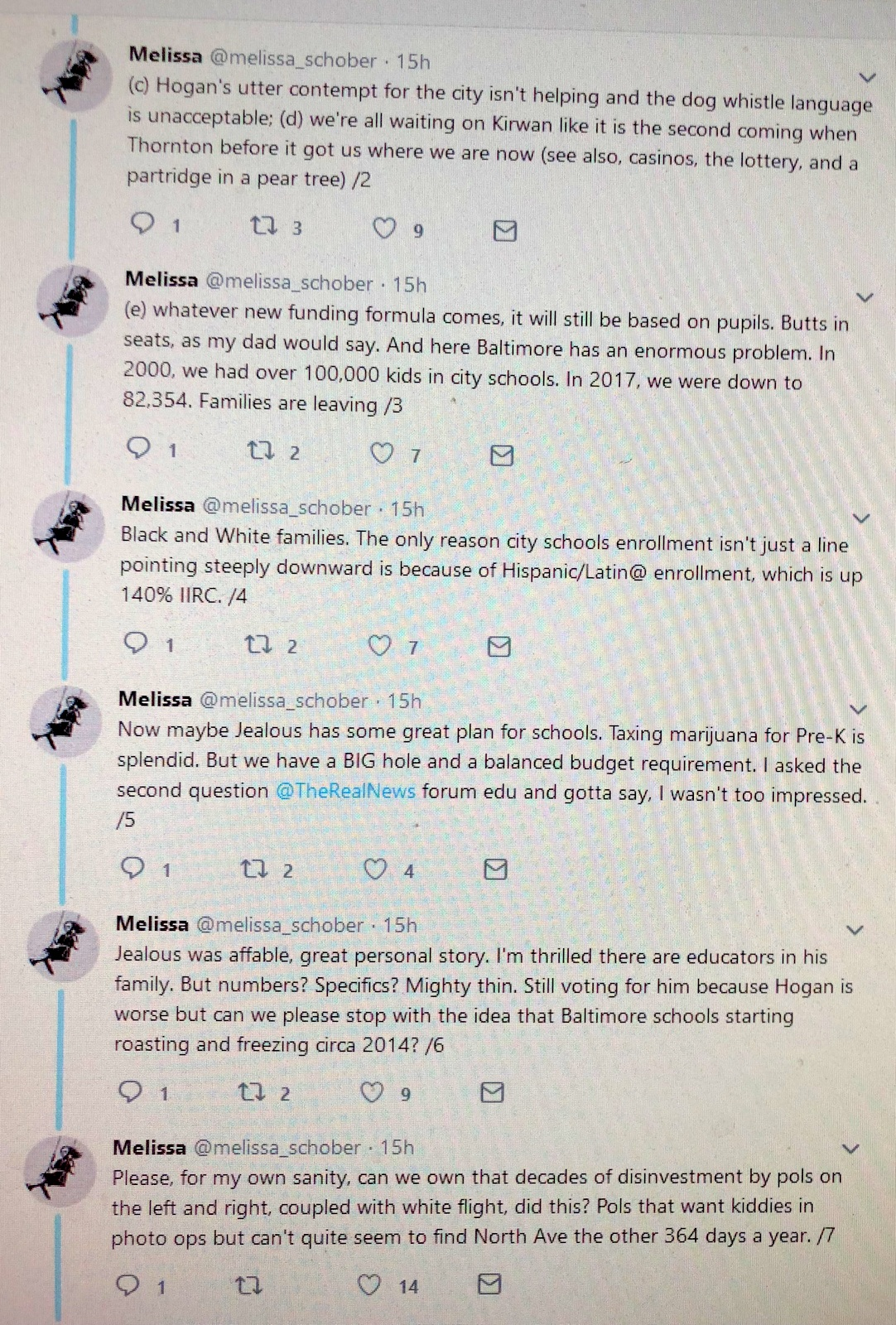 On the first day of the 2018-19 school year, what Baltimore parent Melissa Schober tweeted, with 72 schools closed early because of inadequate air conditioning.