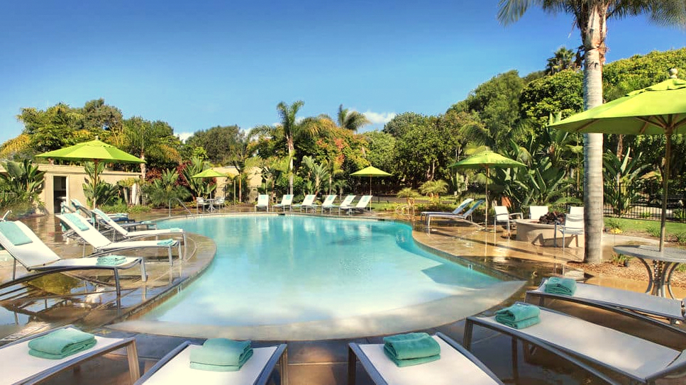 Promotional picture of the Paradise Resort & Spa in San Diego, site of a computer seminar for four BPD officers next month. (Hotels.com)