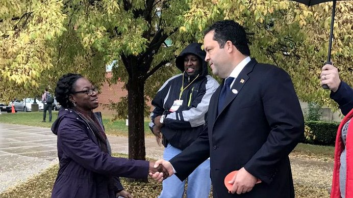 Ben Jealous after voting at Lake Shore Elementary School in Pasadena. (@mddems)