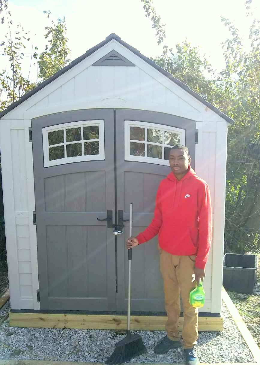 The new soil shed. (Marvin Hayes)