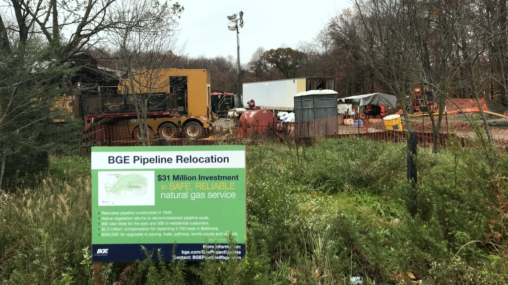 Environmentalists say the Pugh administration made a sweetheart deal with BGE to relocate its natural gas pipeline in Leakin Park. (Mark Reutter)
