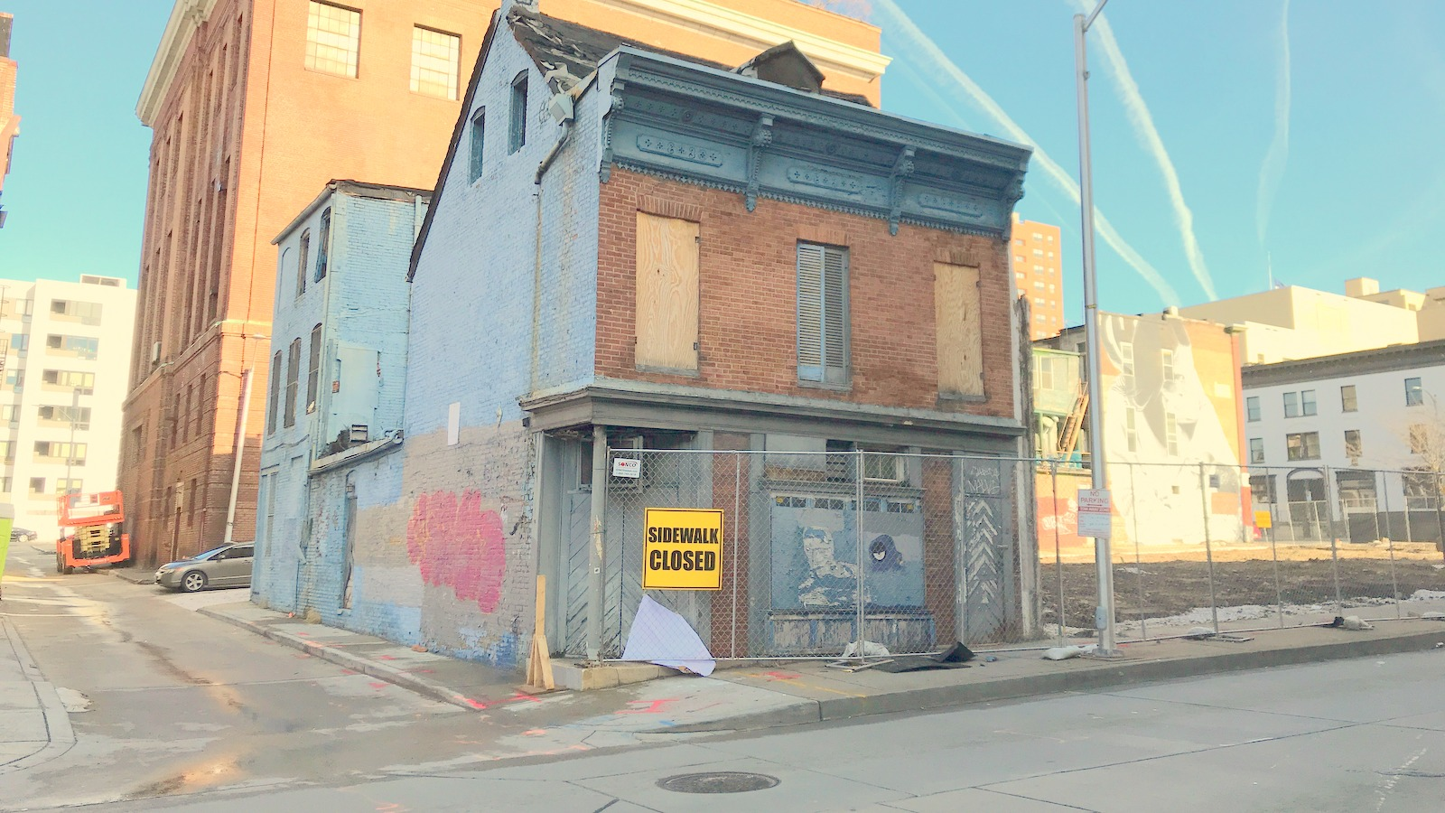 This building on Baltimore's West Side, where Martick's Restaurant Francais once welcomed beatniks and businessmen, is slated for demolition and redevelopment. (Chase Hoffberger)