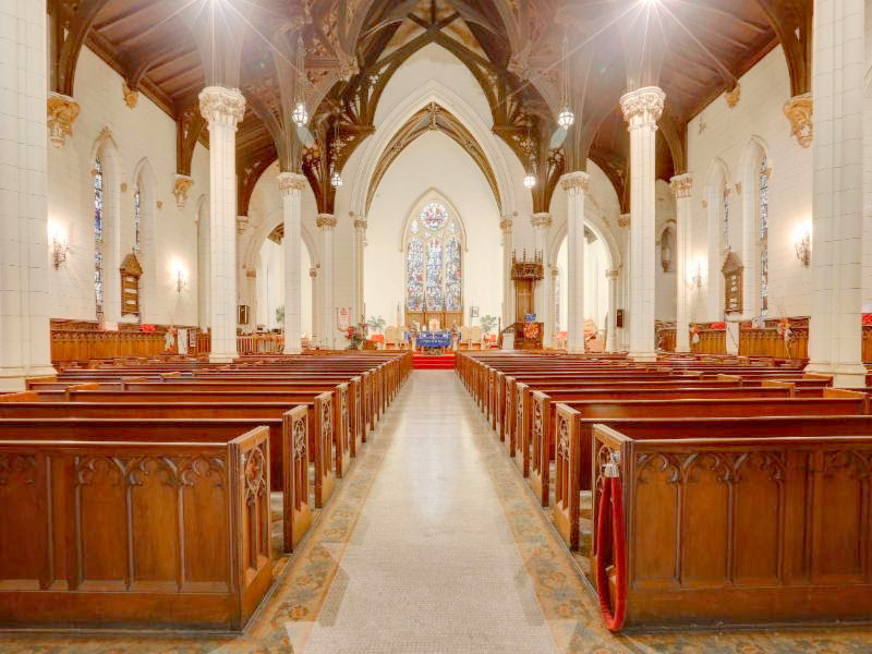 The old church building at 1110 St. Paul Street, includes a 750-seat main sanctuary. (RE/MAX)