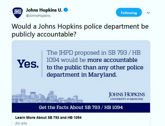 On the eve of today's public hearings on the policing bill, Hopkins sent out this tweet last night.