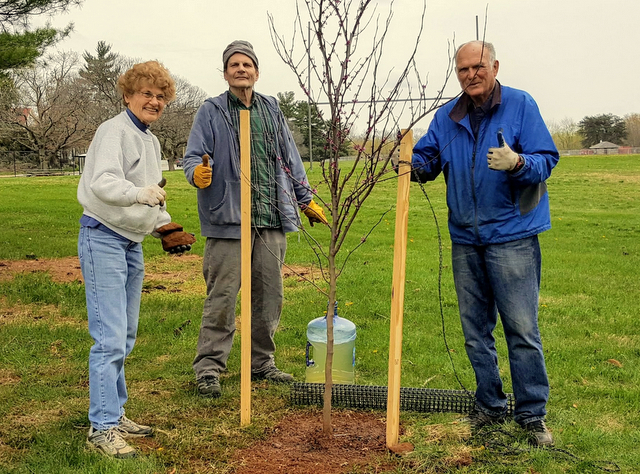 Friends of Gwynns Falls/Leakin Park members Jo Orser, Tony Crute and George Farrant. (Jack Lattimore)