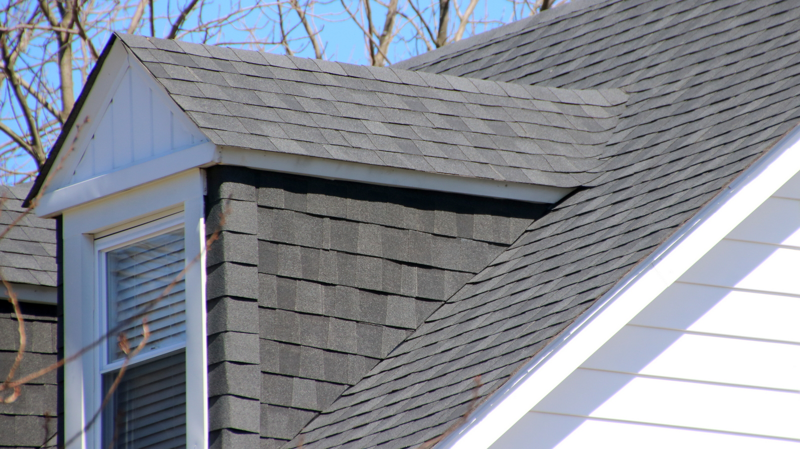 The slate roof on Mayor Catherine Pugh's house on Ellamont Road has been replaced with shingles. (Fern Shen)