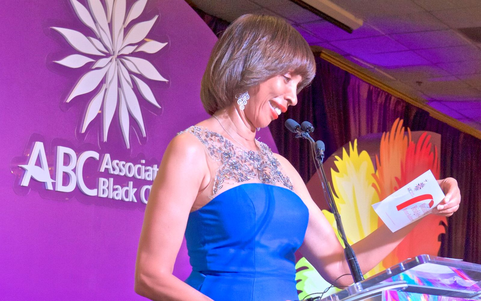 Then-Mayor Catherine Pugh speaks at ABC's annual gala in 2017. (Brew file photo)