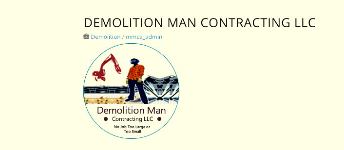 Demolition Man Contracting logo. (Maryland Minority Contractors Association)