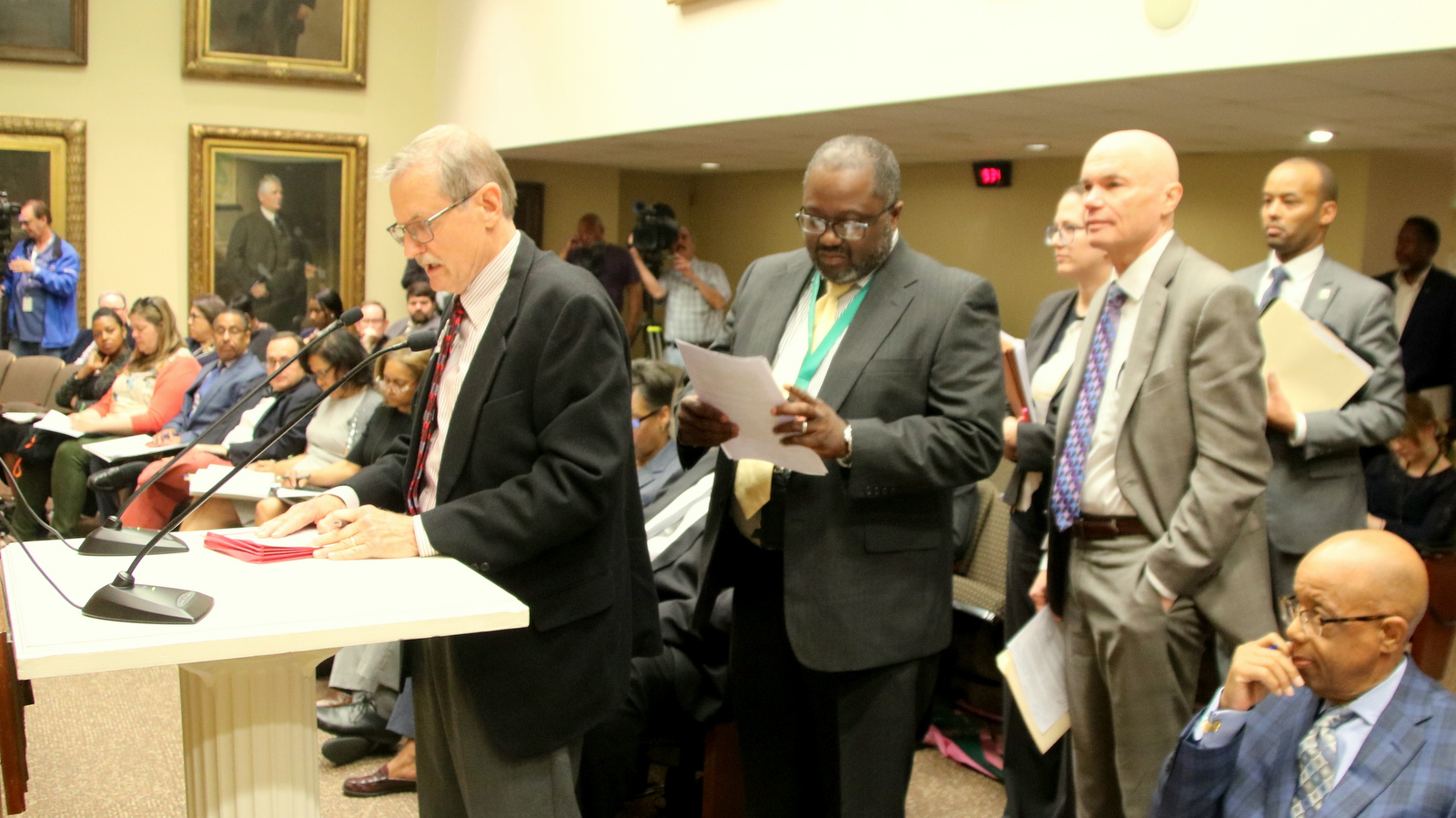 Jack Lattimore, of Friends of Gwynns Falls Leakin Park, testifies before the Board of Estimates. (Fern Shen)