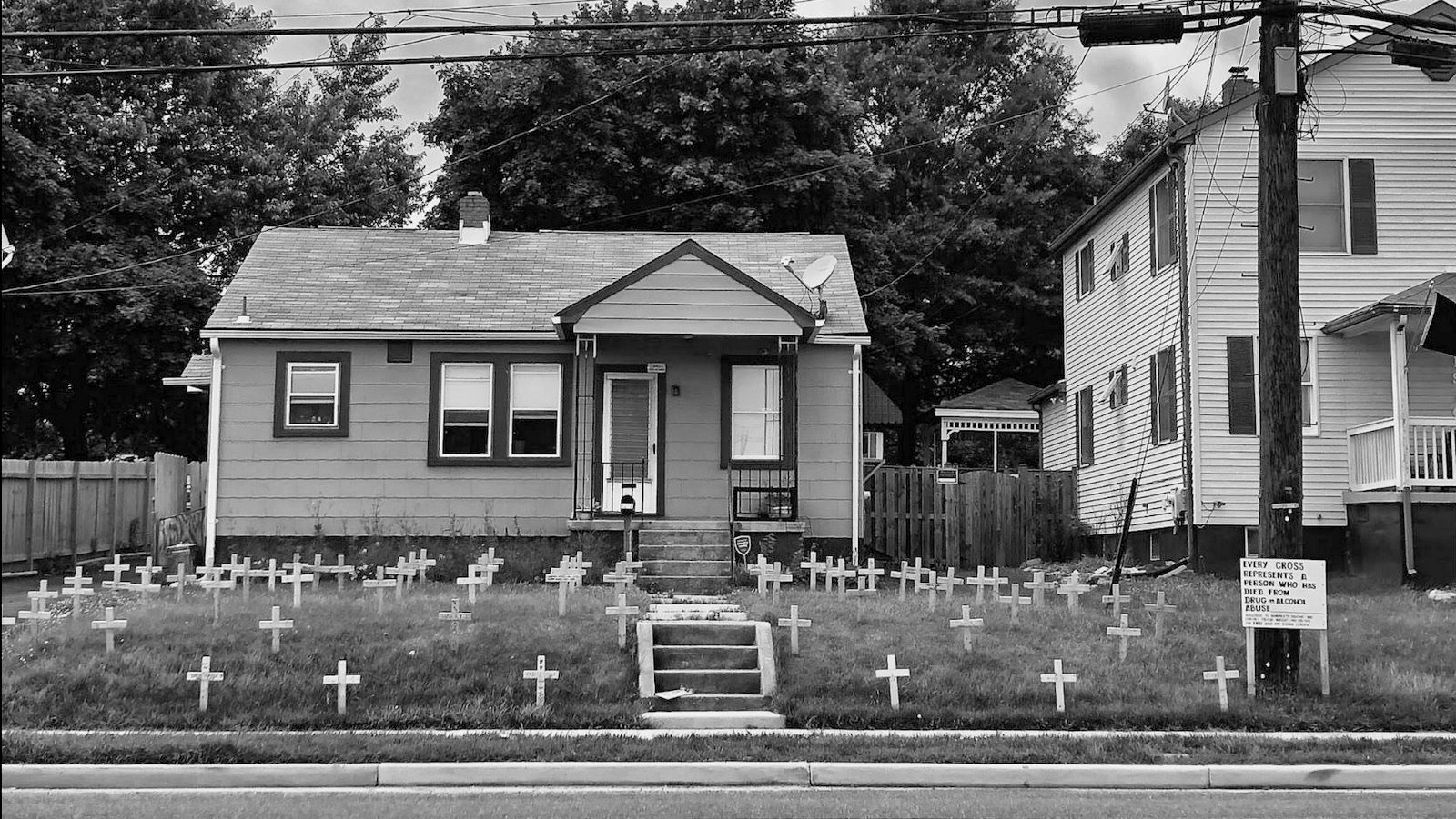 House a mile from the former Sparrows Point steel mill. 2018. (J.M. Giordano)