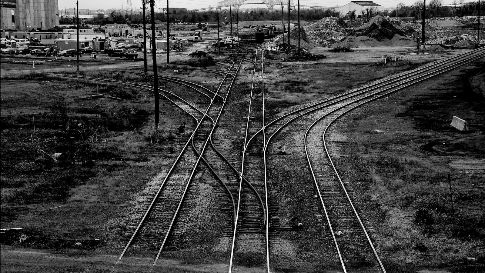 Abandoned railroad tracks at the former Sparrows Point steel mill. (J.M. Giordano)