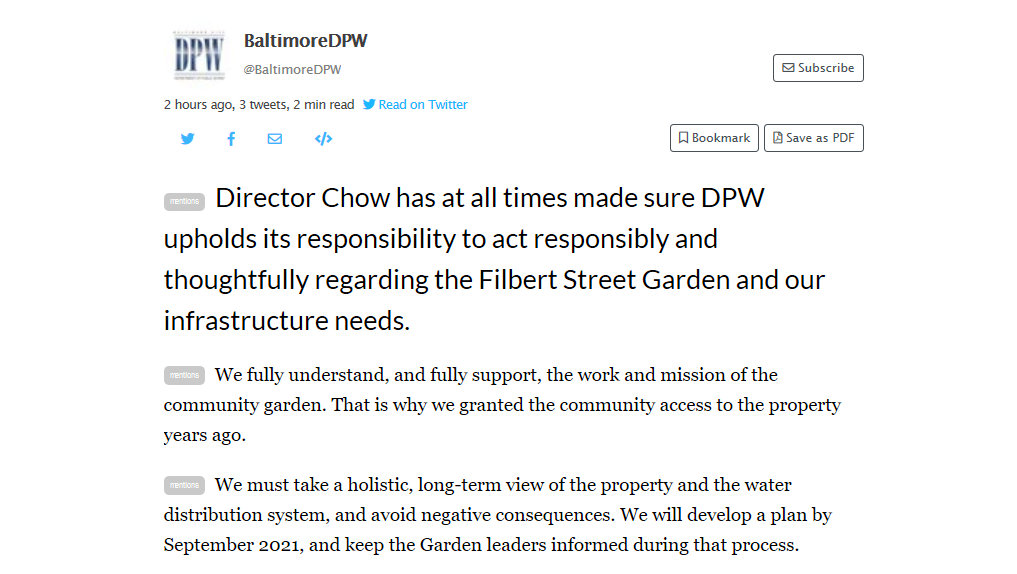 tweets by dpw 51219 on filbert street garden