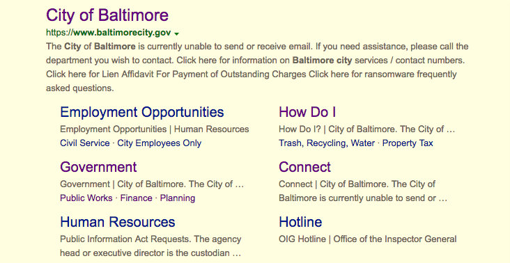 The baltimorecity.gov site is the key reference point for those seeking services and information about Baltimore.