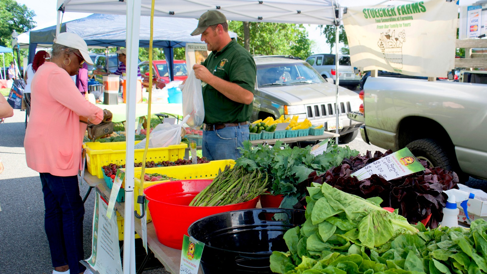 Shoppers have fresh local beets, asparagus, squash much more produce to choose from. (Lizzie Kane)