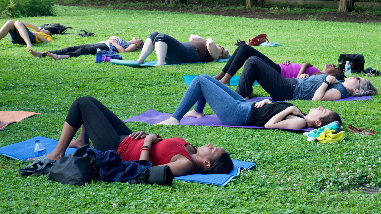 Free yoga, every Wednesday at Druid Hill Park. (Lizzie Kane)
