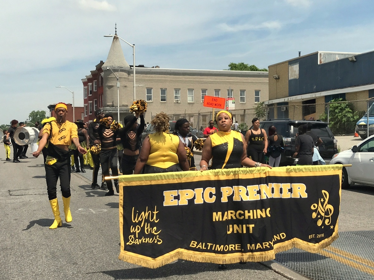 The Epic Premier Marching Unit displays its dance moves. (Mark Reutter)