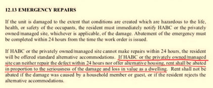 From the Housing Authority of Baltimore City Policy Manual.