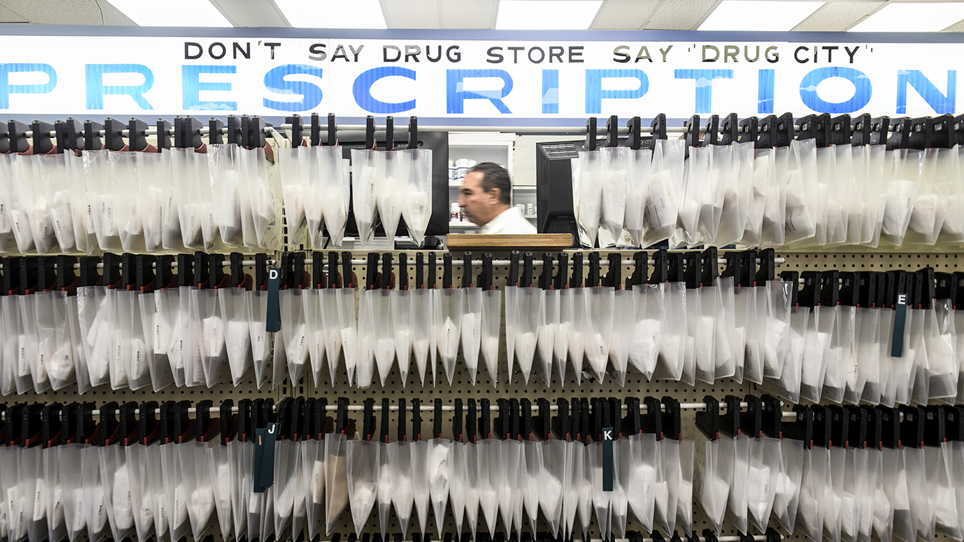 Drug City's prescription counter. (J.M. Giordano)