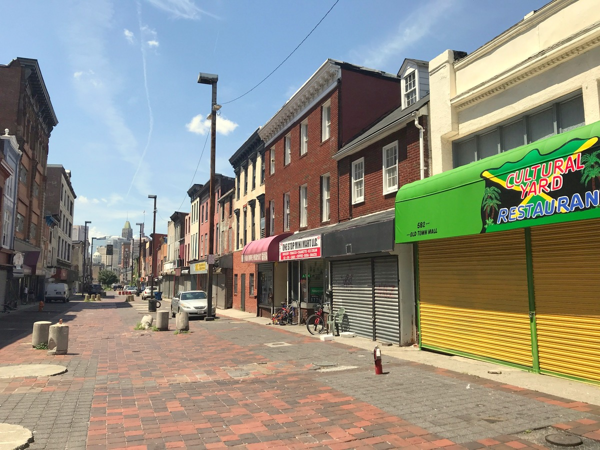 A block west of today's ceremonies, the historic Gay Street Mall lies underutilized and mostly dilapidated. (Mark Reutter)