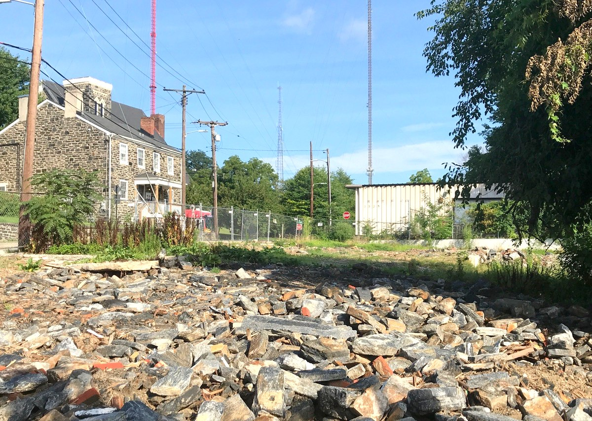 All that remains of the Clipper Road houses is rubble, which includes the cut stones and bricks of the original buildings. (Mark Reutter)