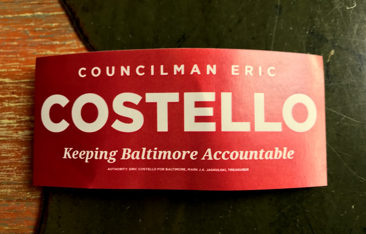 Costello, a close ally of Mayor Young, unveiled his new slogan last night. (Mark Reutter)