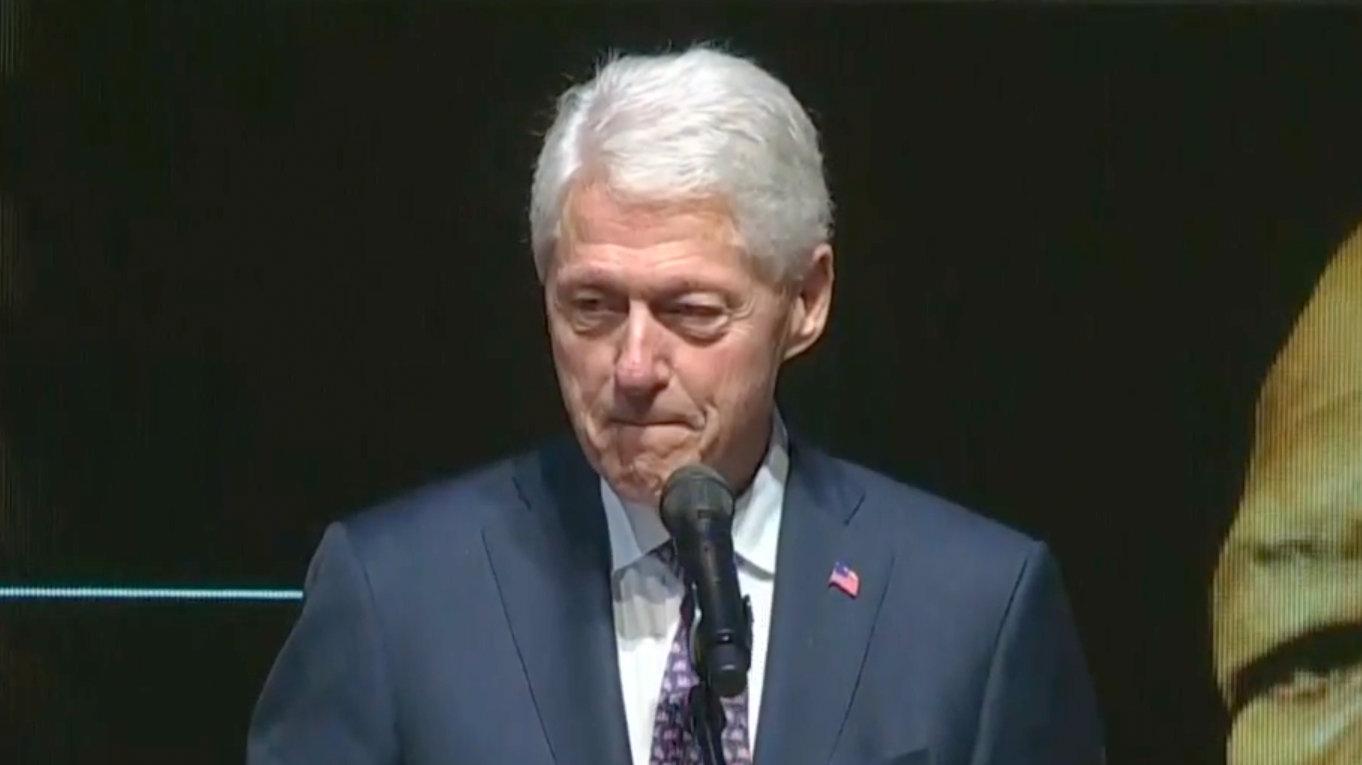 Former president Bill Clinton speaks at Rep. Elijah Cummings' funeral in Baltimore. (YouTube)