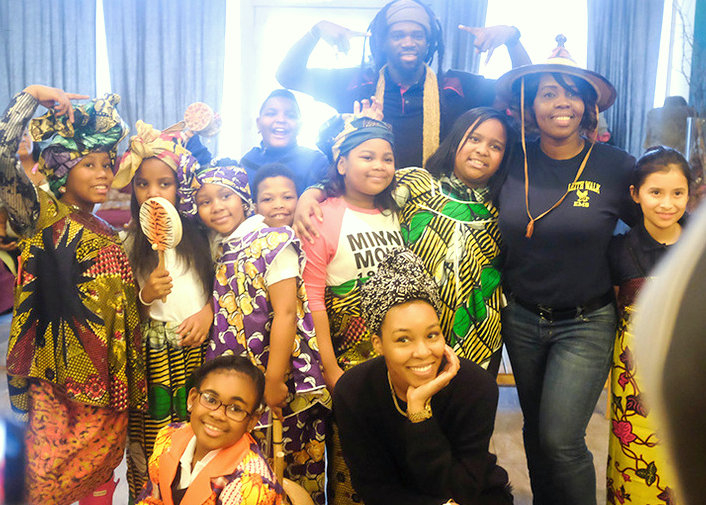 Children at a recent museum event. (sankofakids.org)