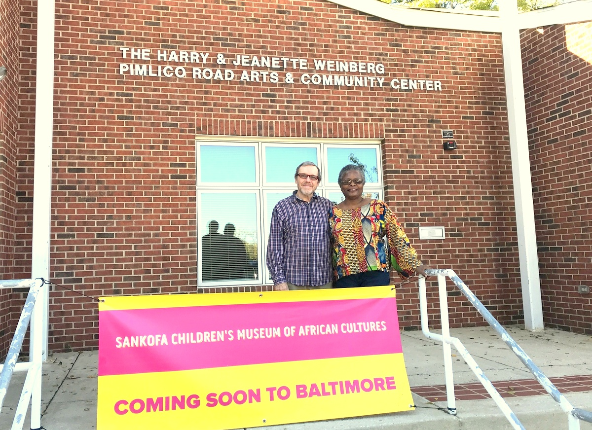 The museum founders outside the Pimlico Road Arts & Community Center. (Mark Reutter)