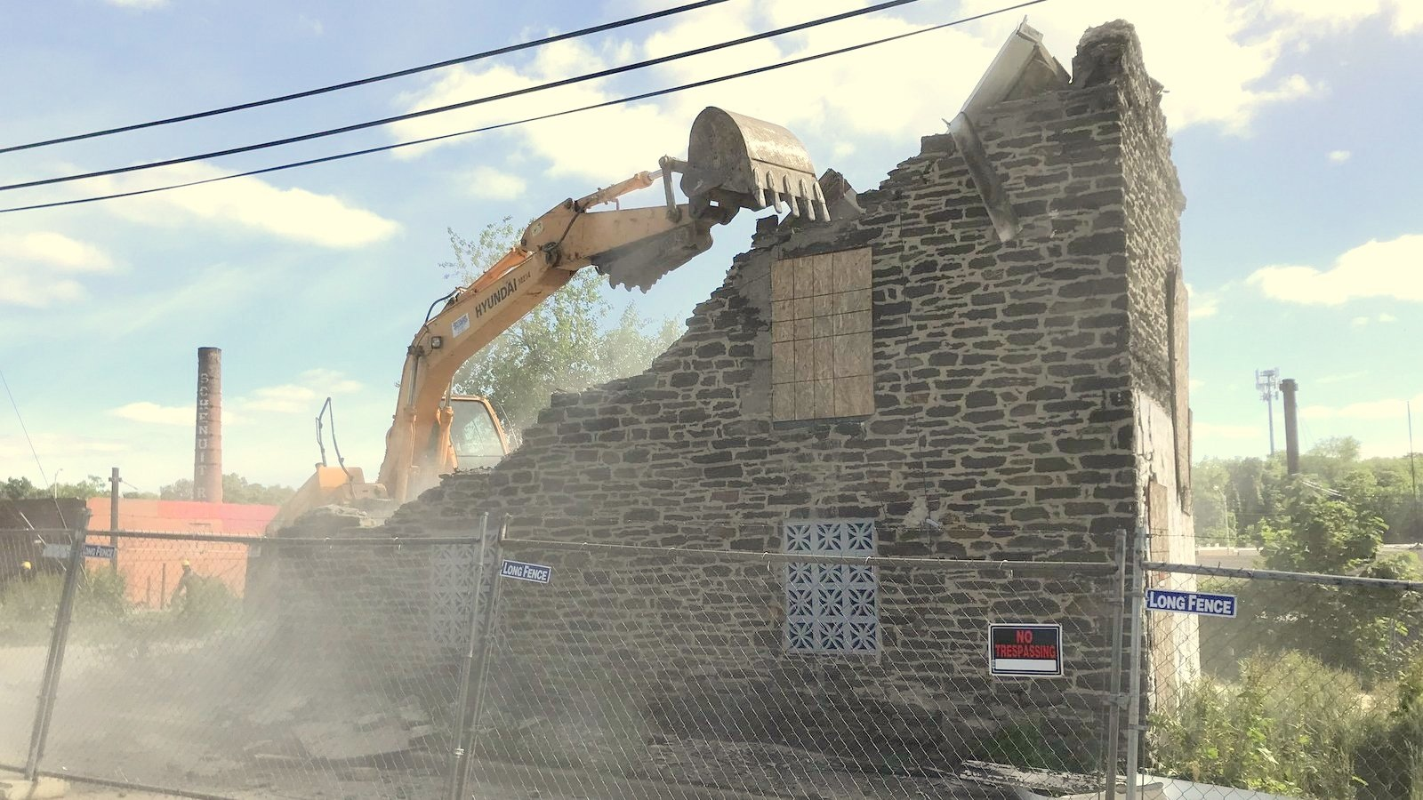 Last May's demolition of this another another historic houses by developer Katherine Jennings spurred community efforts to designate Woodberry a historic district. (sevensixfive)