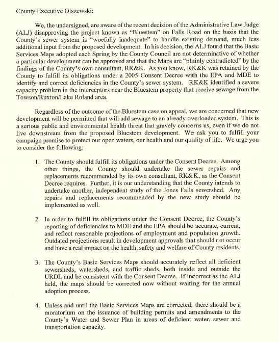 Letter to Olszewski, pg 1