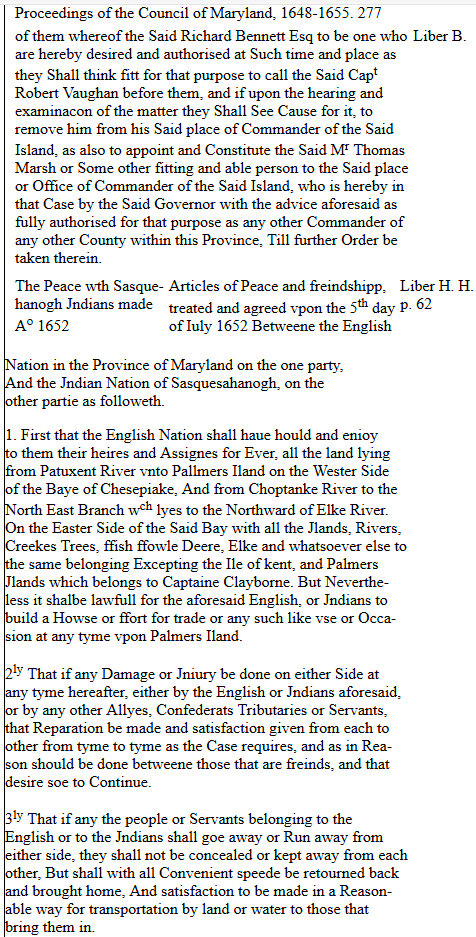 Proceedings of the Council of Maryland, 1636-1667 PAGE ONE