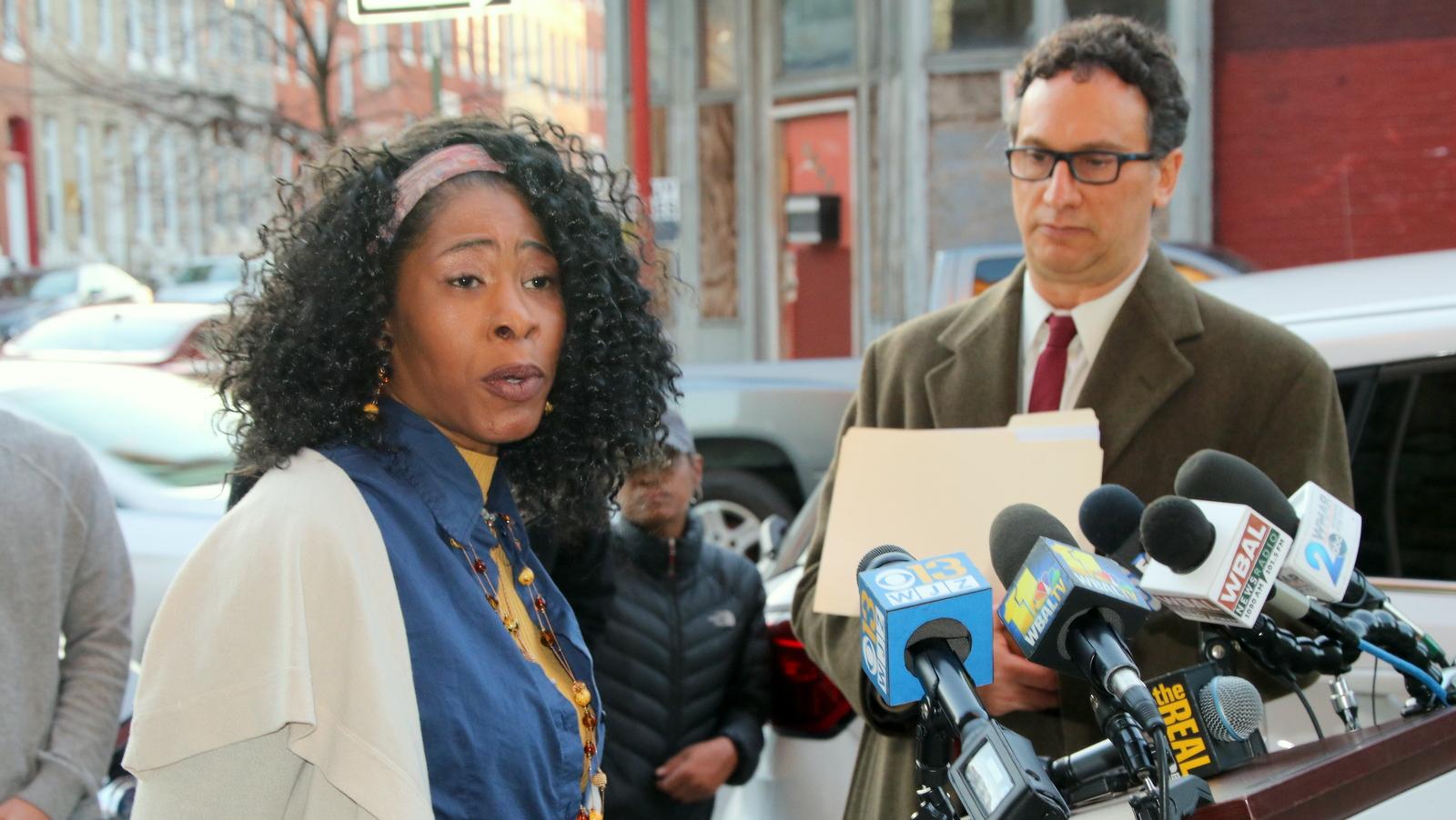 Harlem Park resident Lauren Holmes, who likened the 2017 lockdown to
