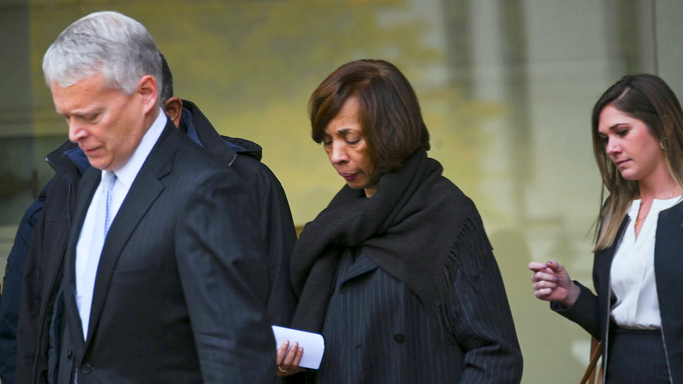Former Baltimore mayor Catherine Pugh leaves federal court, after pleading guilty to corruption charges. (J.M. Giordano)