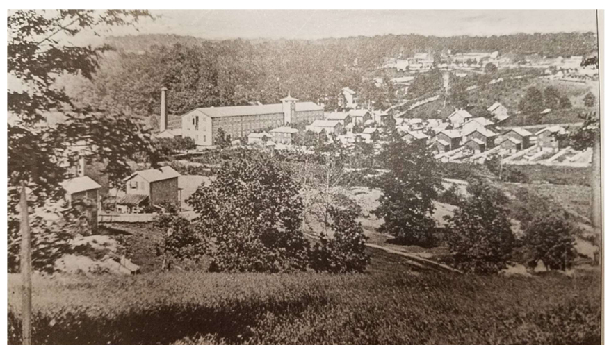 An 1867 view of Woodberry and the Jones Falls Valley from Brick Hill. (CHAP)