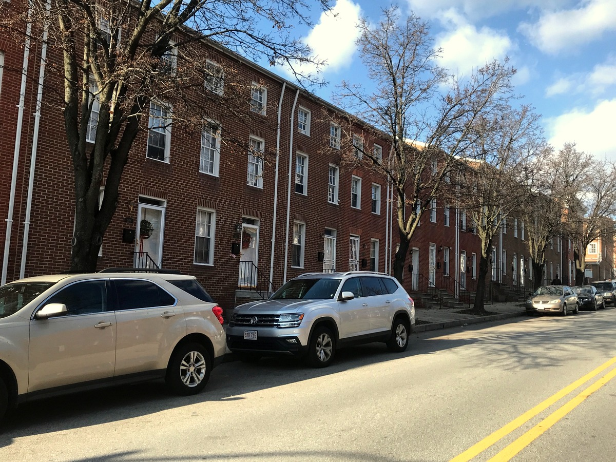 Mayor Young says he lives with his wife in a rowhouse condo on the 900 block of North Central Avenue (above), but claims his primary residence is the East Madison Street property. (Mark Reutter)