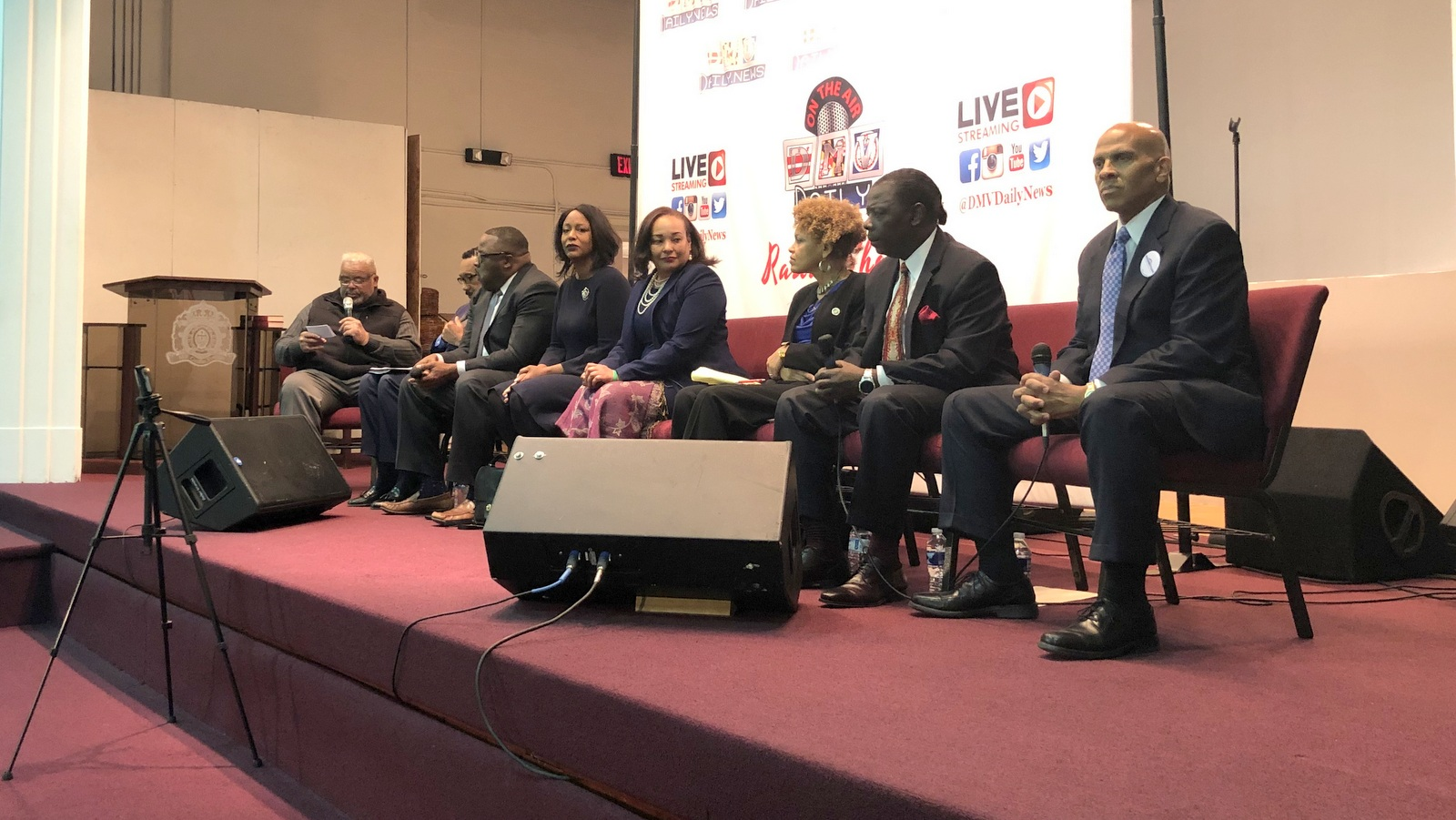At a debate in Baltimore, candidates offered their vision for the 7th Congressional district. (Ian Round)