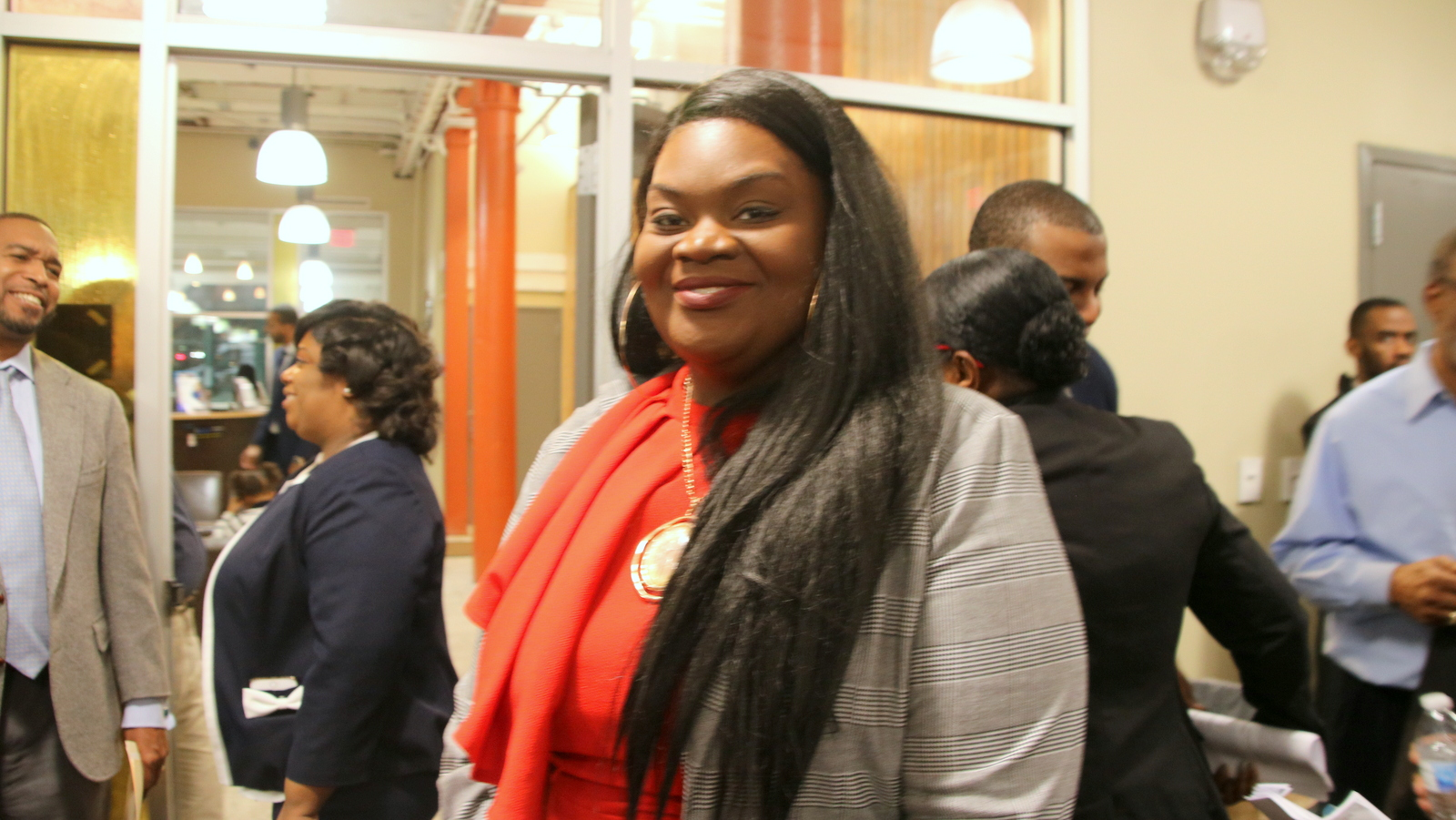 At a Democratic party meeting to fill a legislative vacancy, candidate Tiffany Jones said she felt