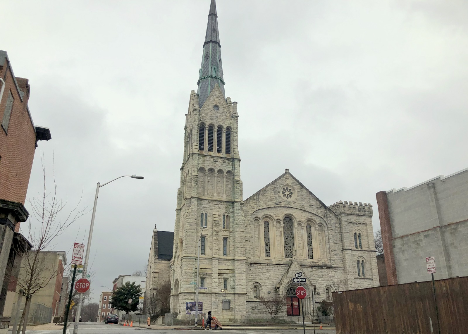Bethel AME Church today at the corner of Druid Hill Avenue and Lanvale Street. (Fern Shen)
