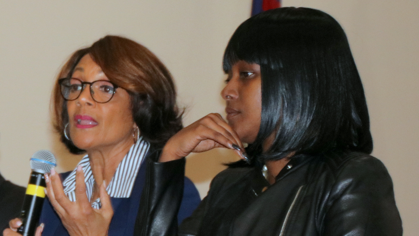 Former mayor Sheila Dixon and Catalina Byrd who noted
