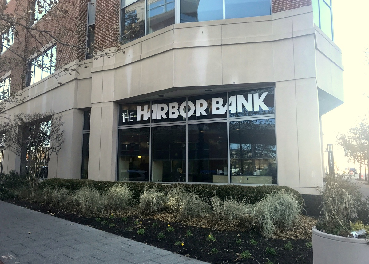 The Harbor Bank branch on West Baltimore Street where Pugh conducted much of her 2 Chic Boutique and Healthy Holly transactions. (Mark Reutter)