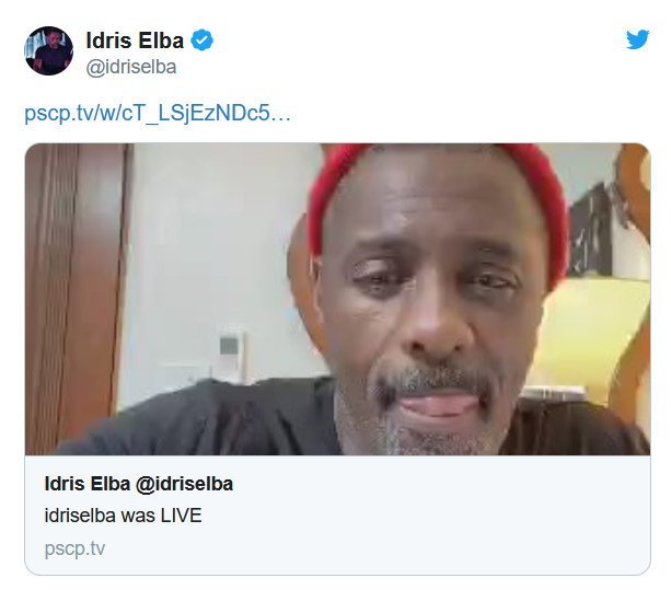 In a March 17 video, Idris Elba discusses COVID-19 after testing positive for the new coronavirus (@idriselba)